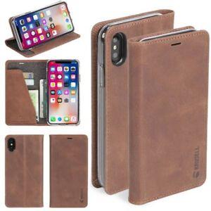 Ledertasche-Sunne-4-Card-fuer-Apple-iPhone-X-XS-5-8-Ledertasche-Huelle-Braun