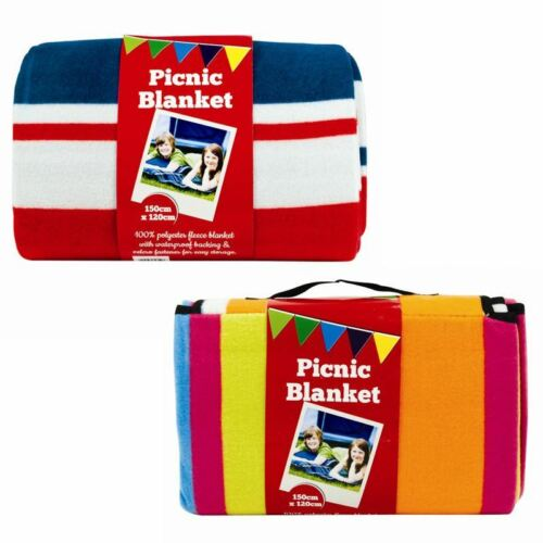 New Folding Outdoor Picnic Blanket Camping Festival Beach Rug Fleece Travel Mat