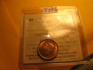 Canada-1940-Gem-Certified-ICCS-MS-64-Small-Cent-Penny-IDJ276