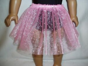 Light-Pink-Sparkly-Dot-Basic-Tutu-18-034-Doll-Clothes-Fits-American-girl-dolls