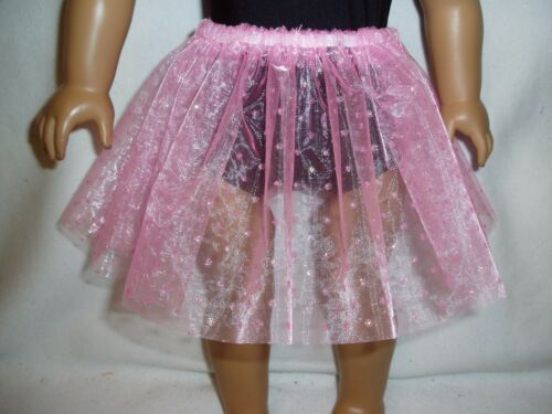 Light Pink Sparkly Dot Basic Tutu 18 Doll Clothes Fits American girl dolls