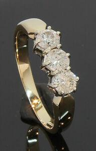 9-Carat-Yellow-Gold-3-Stone-Diamond-Ring-0-50ct-Size-K-9CT-80-18-549
