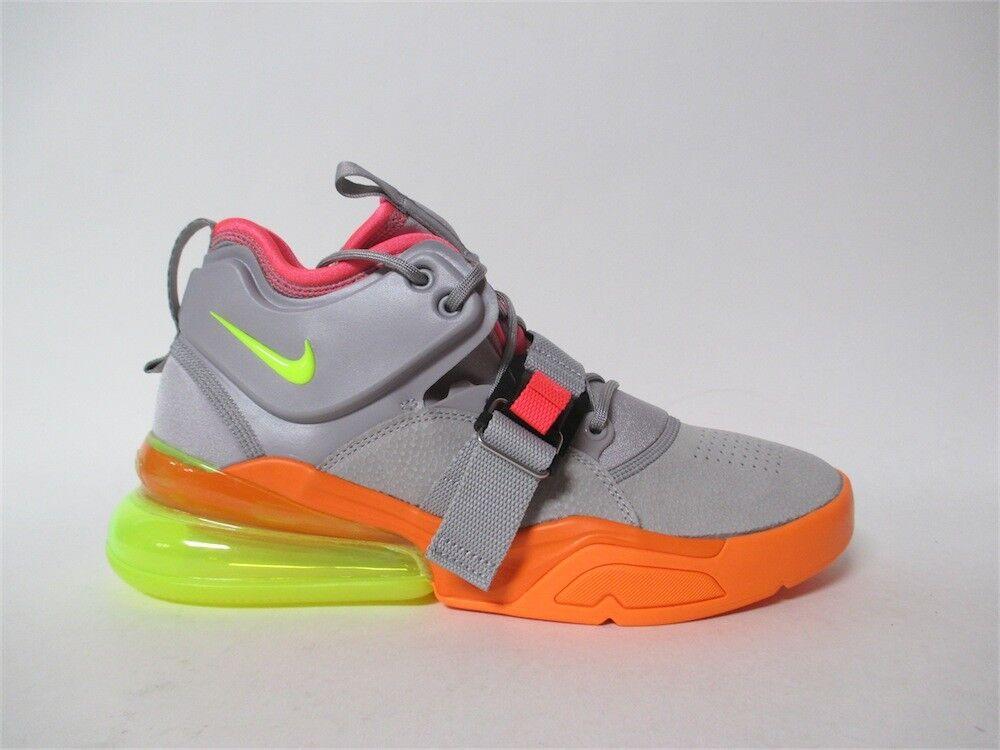 Nike Air Force 270 Sherbert Atmosphere Grey Volt Orange Sz 10.5 AH6772-007