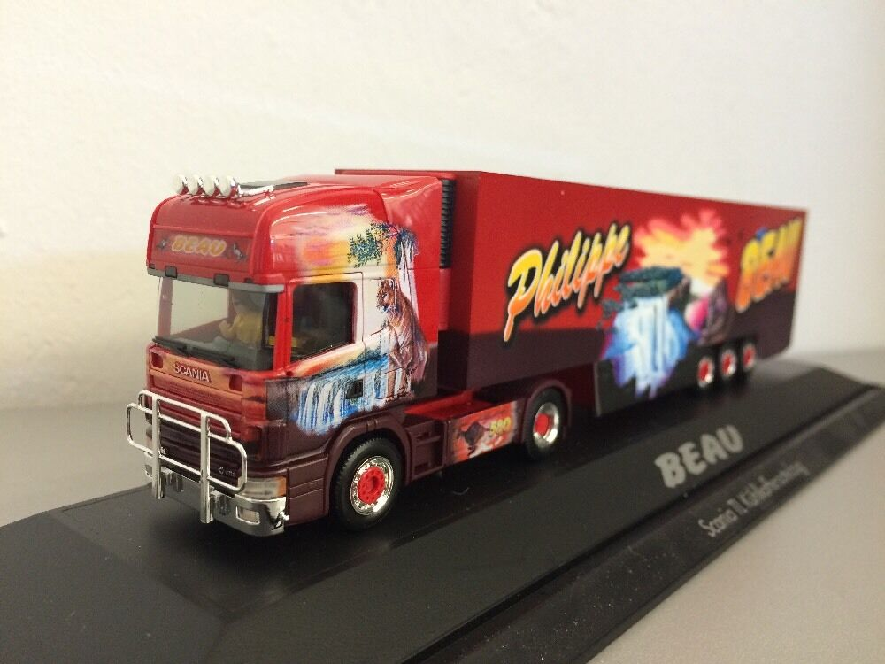 Herpa 1 87 SCANIA TOPLINE beau 1 France en PC Box