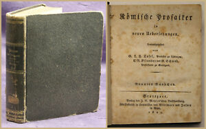 Tafel-Roemische-Prosaiker-in-neuen-Ubersetzungen-9-Band-1827-Geschichte-sf