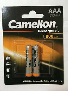Sonnig 2 X Camelion Micro Aaa 900 Mah Ni-mh Akku Telefon F Gigaset E500 E500h Batterie Quell Sommer Durst Akkus