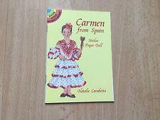 Carmen from Spain Sticker Paper Doll Dover Little Activity Book Carabetta Dress