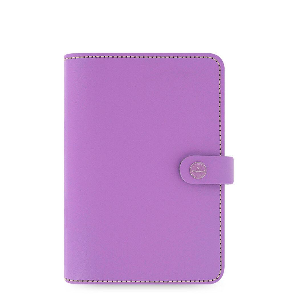 Filofax Personal Size Original Organiser Planner Diary purplec Leather  022398 J2