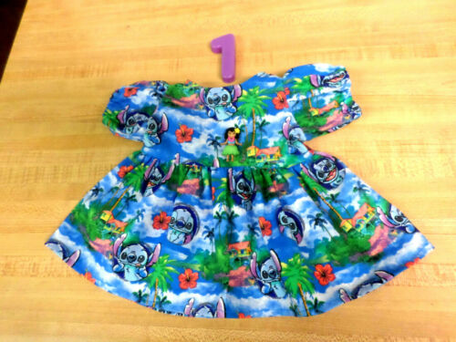 "DISNEY LILO+STITCH HAWAIIAN DRESS  for 14/"" or 16-18/"" CPK Cabbage Patch Kids HULA"