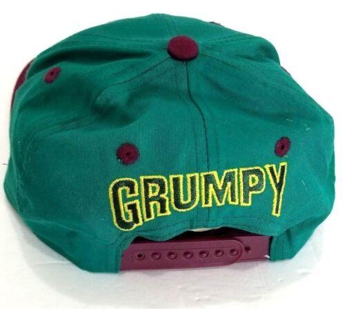 Vintage Grumpy Snow White Seven Dwarfs Snapback Hat Cap Youth flat bill Disney