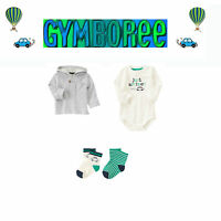 Gymboree Baby Boys we Have Arrived Hoodie/bodys/socks 3 Piece Set 0-3m