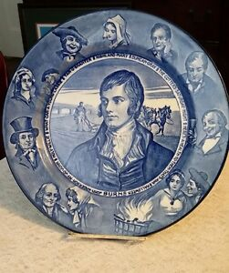 Image is loading Antique-Royal-Doulton-Poet-Robert-Burns-Series-Ware-  sc 1 st  eBay & Antique Royal Doulton Poet Robert Burns Series Ware Blue u0026 White ...
