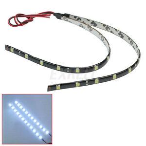 2x-30cm-12-SMD-5050-De-Bande-Flexible-LED-12V-Lumiere-Blanc-Ruban-Light-Strip