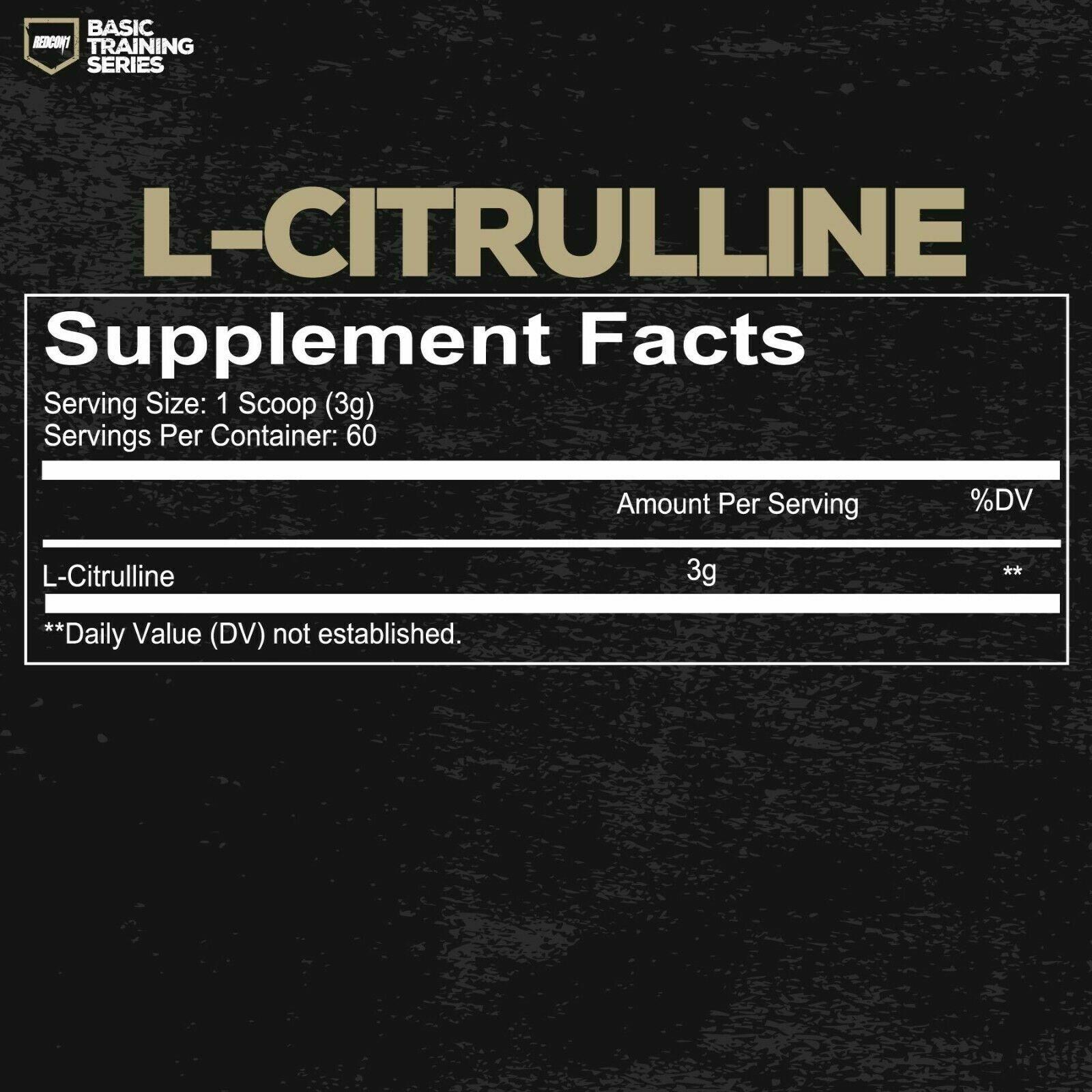 REDCON1 L-citrulline Basic Training Series 60 Serv Unflavored for sale  online | eBay