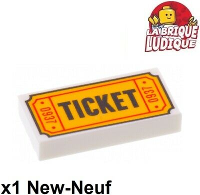 ☀️NEW Lego  Minifig ADMISSION TICKET 1x2 DECORATED TILE 0937 pattern minifigure
