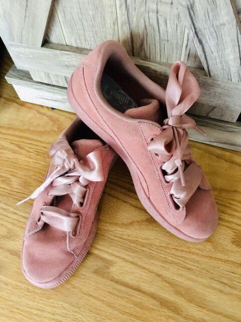 Puma Suede Heart Satin II Dusty Rose Sneakers Size 8.5 | eBay