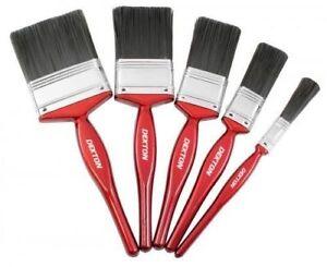 Nouveau Dekton 5 Pièce Durable Paint Brush Set 12-60 mm pour tous types de peinture
