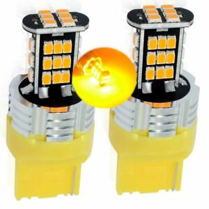 T20-7440-CANBUS-Bulbs-AMBER-Orange-LED-Indicators-Blinkers-Lights-Rear-Front-VW