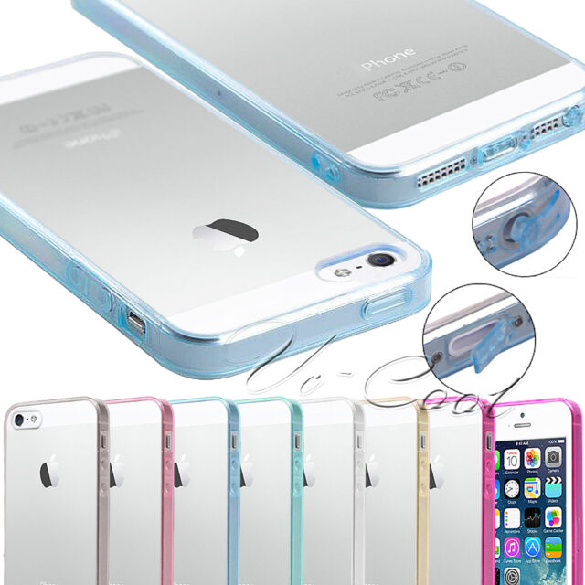 Transparent Clear Soft Silicone Tpu Bumper Hard Cover Case For Iphone 4 4S 5 5S