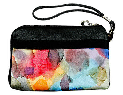 Hand Painted Silk Women/'s Clutch Strap Wallet Bag Watermark Design Invisible