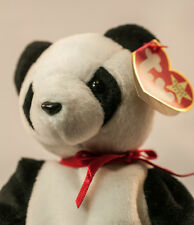 "Ty Beanie Baby ""Fortune"" Panda Bear Retired Mint Stored  12/6/1997Tush Error"