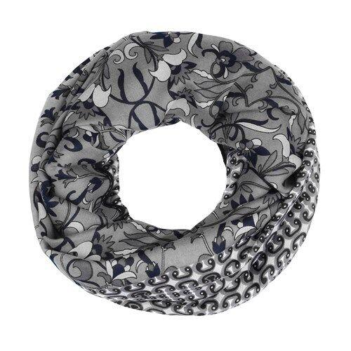 Damen Schlauchschal Loopschal Rundschal Floraler Print Infinity Tube Scarf
