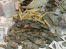 ESTATE LOT ICONIC OLD US COINS+SILVER+GOLD+CURRENCY+PROOF+1800s+IKE$1+WWII++#%50