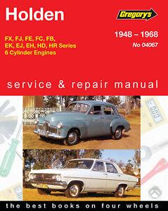 Holden-FX-FJ-FE-FC-FB-EK-EJ-EH-HD-HR-Special-Premier-1948-1968-Repair-Manual