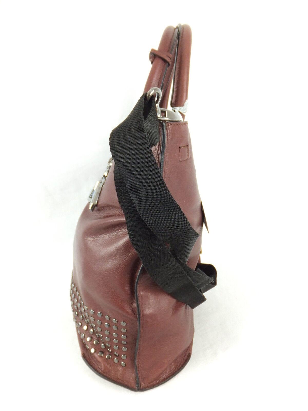 PATRIZIA PATRIZIA PATRIZIA PEPE Shopper Tasche - bordeaux rot - neu mit Etikett - mit Nieten   | Passend In Der Farbe  | Hohe Qualität Und Geringen Overhead  | Großer Verkauf  901e59