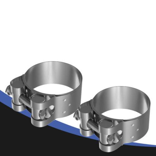 Acier Inoxydable Voiture Universel Tuyau d/'échappement DIN Pince Connecteurs 60 Mm 63 mm 67 mm