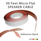 Acoustic Research SPEAKER CABLE 30ft MICRO FLAT ADHESIVE Wire for Wall/Carpet