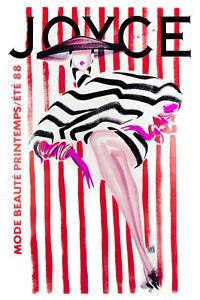 3020.Joyce Beauty Fashion stripes POSTER.Home bedroom decor.Interior room wall