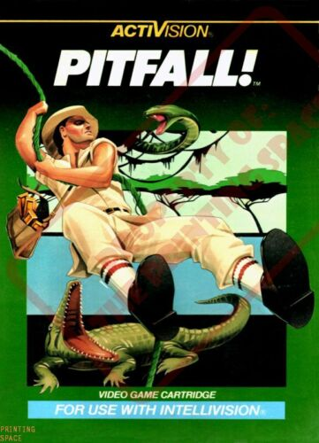 PITFALL Wall Poster 24 x 36 inch Vintage Retro Promo Video Game 001