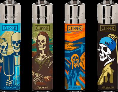 Clipper Classic Original Feuerzeug Serie Wrong Collection 4 Stück
