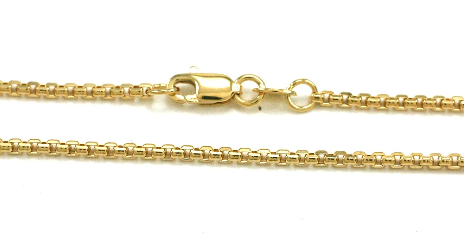 14K Yellow gold Italian Made 1.8mm PuffBox Chain 22  4.6gr  DC100