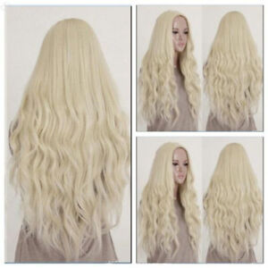 Image Is Loading 26 Inch Princess Wig Long Curly Wavy Blonde
