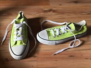 Details zu Converse All Star Chucks Schuhe, Turnschuhe, Sneakers Gr. 39 neon gelb TOP !!!