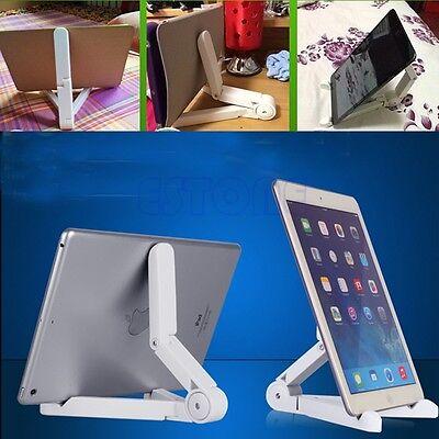 Foldable Stand Mount Holder Braket Desktop for PC iPad Air Samsung Tablet White