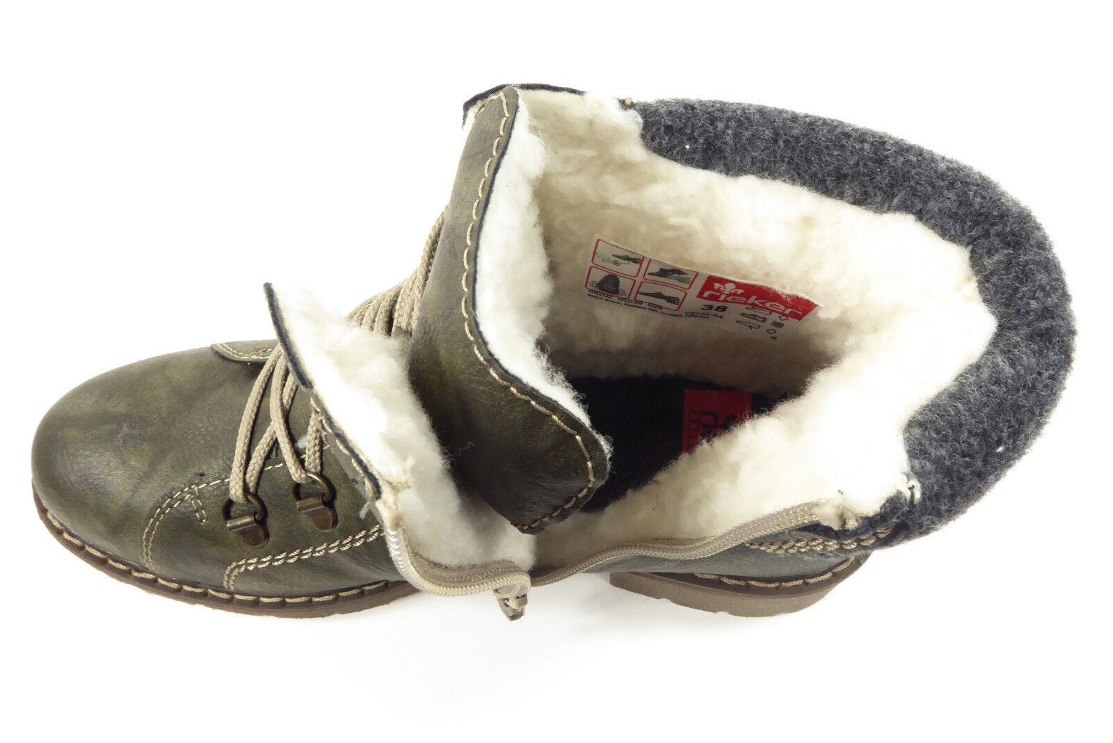 Rieker Rieker Rieker Damenschuhe Stiefel Grün WarmfutterTex-Membrane Reißverschluss Y9142-54  | Smart  ed1d1c