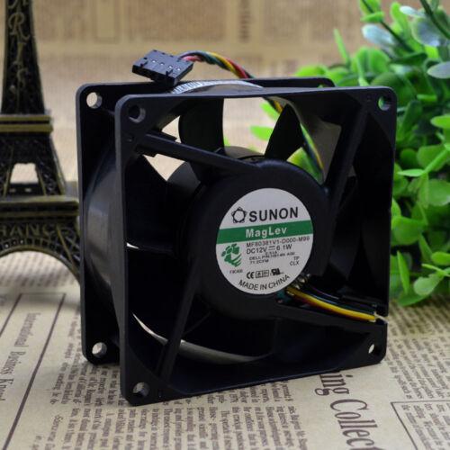 Sunon MF80381V1-D000-M99 fan 12V 6.1W 80*80*38mm 4Pin #M2709 QL