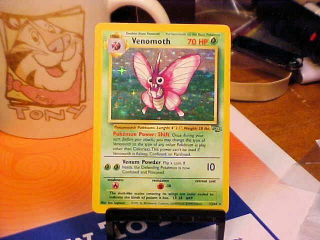 Venomoth 13/64 Jungle Set Holo Rare Pokemon Card