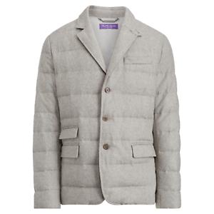 Purple omlaag Ralph Lauren Label Flanel jas grijze wol Sportcoat Blazer Puffer rCxBedoW