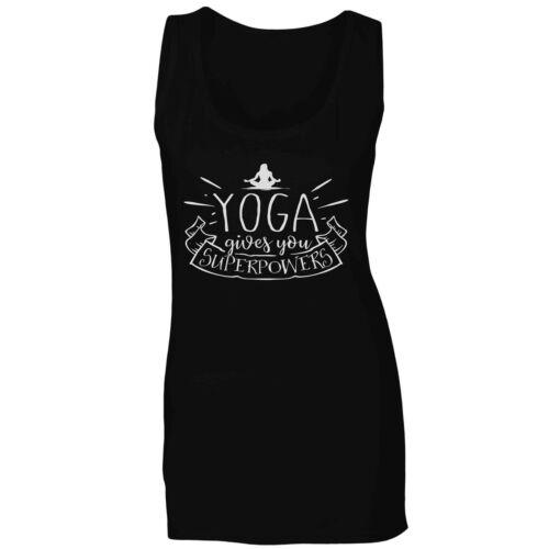 Yoga ti dà i superpoteri Donna T-Shirt//tank top t805f