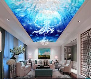 3D Jellyfish Sun 754 Ceiling WallPaper Murals Wall Print Decal Deco AJ WALLPAPER