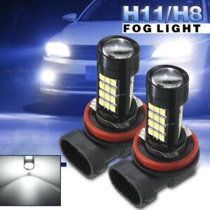 2x-H11-H8-42-SMD-LED-White-Samsung-2835-Canbus-Error-Free-Fog-Light-Bulb-6500K