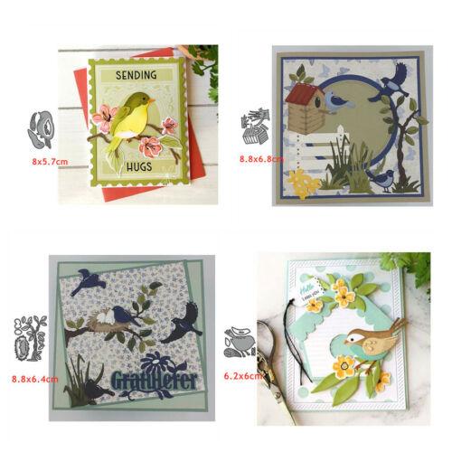 Tree Bird Nest Cutting Dies Metal Stencils Diy Scrapbooking Die Cut Card Crafts