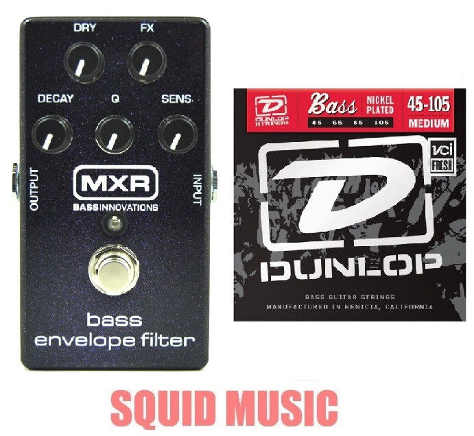 MXR Dunlop M82 Bass Envelope Filter Effects Pedal M-82 ( 1 SET OF BASS STRINGS)