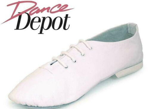 Royaume-Uni 12 Homme DANSE DEPOT en cuir souple Jazz Chaussures Plein en Daim Semelle Blanc