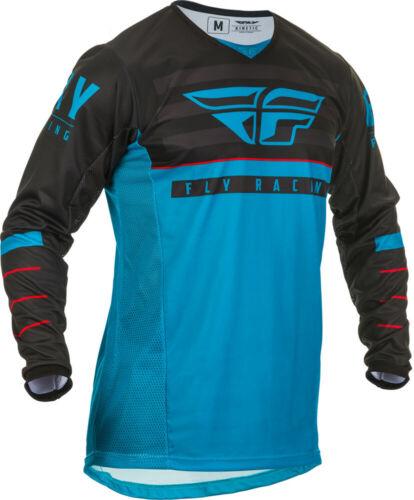 Fly Racing Mens Blue//Black//Red Kinetic K120 Dirt Bike Jersey MX ATV 2020