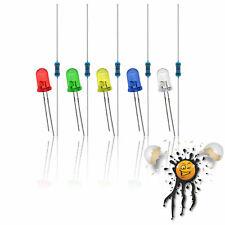 5mm Led Resistor Set 33v 5v 6v 9v 12v Red Blue White Yellow Green 10 Parts